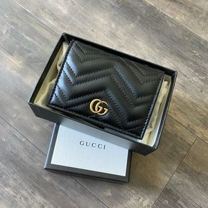 Gucci Marmont Small Quilted Leather Wallet
